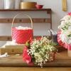 Pleated Ribbon Basket
