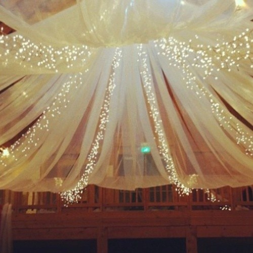 How To Decorate Ceiling With Tulle And Lights Paper Mart Blog