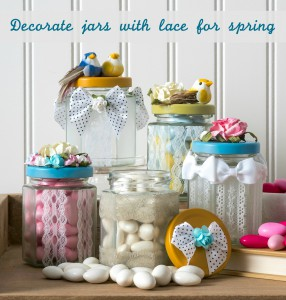 Laced Springtime Jars
