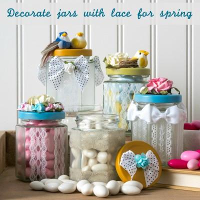 Laced Springtime Jars