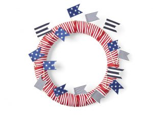 HGTV Stripes and Stars Wreath
