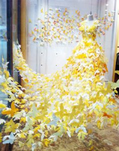Yellow Butterfly Dress Display