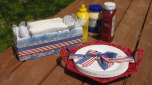 DIY Americana Untensil Caddy