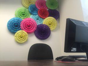 Honeycomb Fan Wall Decor