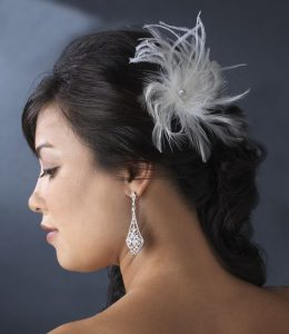 Marabou Feather Hair Clip for DIY Bridesmaid Gift Pack