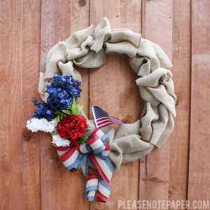 4th of July Burlap Wreath