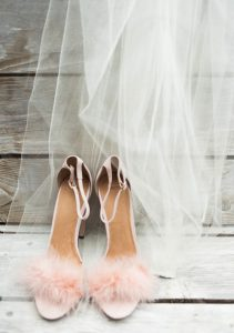 Feather Heels to Include in Bridesmaid Gift Pack