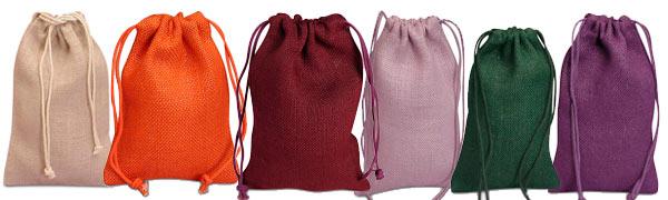Color Jute Muslin Bags