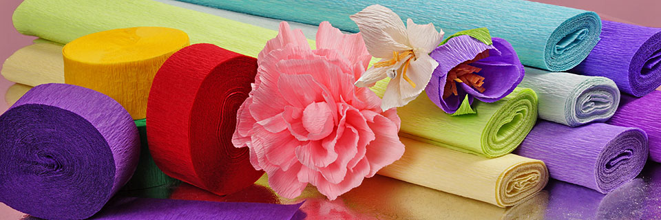 Diy Crepe Paper Decorations Crepe Paper Craft Ideas