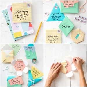Camille Styles DIY Fold-Your-Own Geometric Envelopes