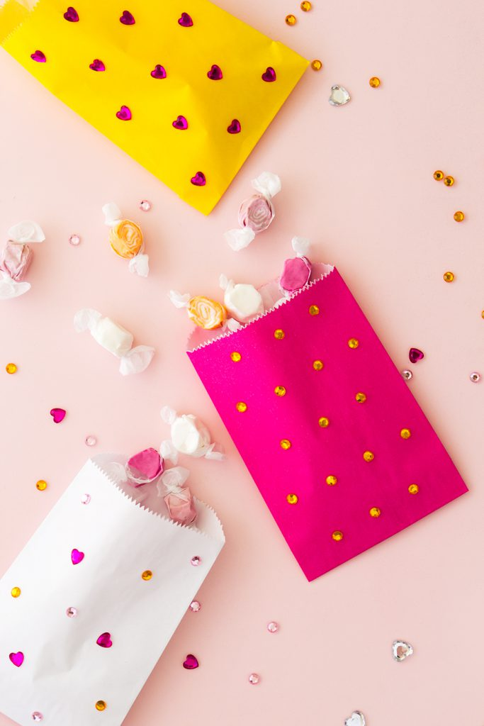 DIY Jeweled Treat Bags by Sarah Hearts