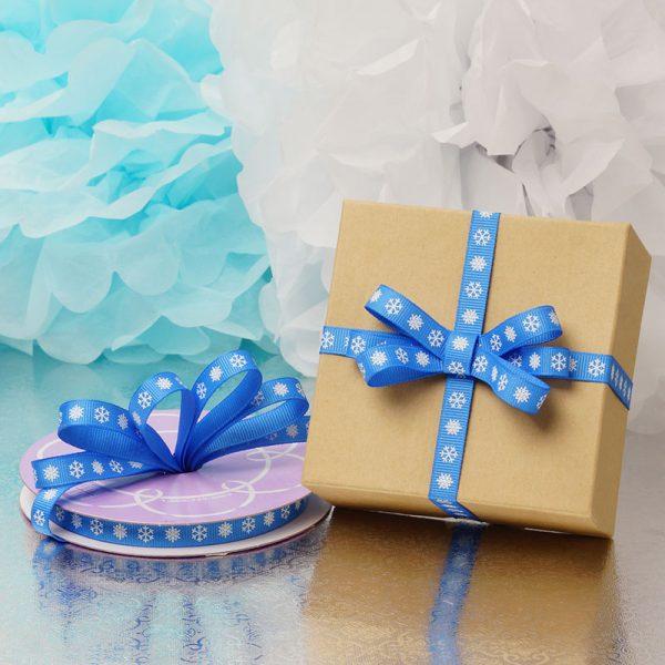 thin blue grosgrain ribbon