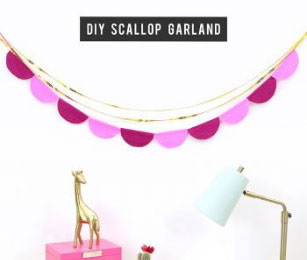 DIY Scalloped Crepe Paper Garland as Featured in Lines Across