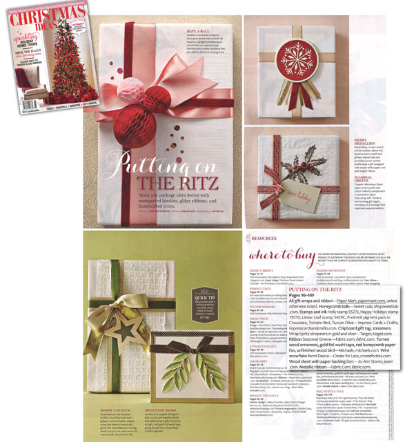Paper Mart Featured In Better Homes And Gardens Christmas Ideas
