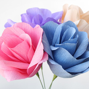 Video Crepe Paper Flowers Diy Tutorial