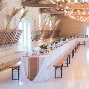 Rustic Weddings With Diy Burlap Table Runner Lace Paper Mart Blog