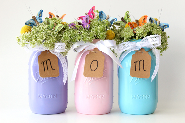 Video Mothers Day Diy Mason Jar Vases Tutorial Papermart
