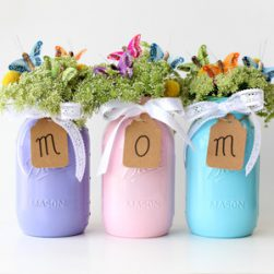 Mothers Day Mason Jar Vases