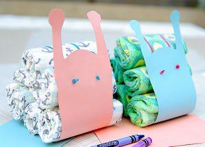 Paper Snails Diaper Cake