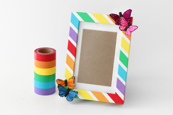 Colorful Rainbow Craft Diy Picture Frame Papermart