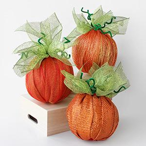 deco mesh pumpkins
