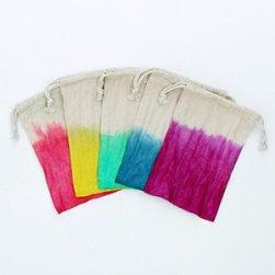 Dip Dye Fabric Bags