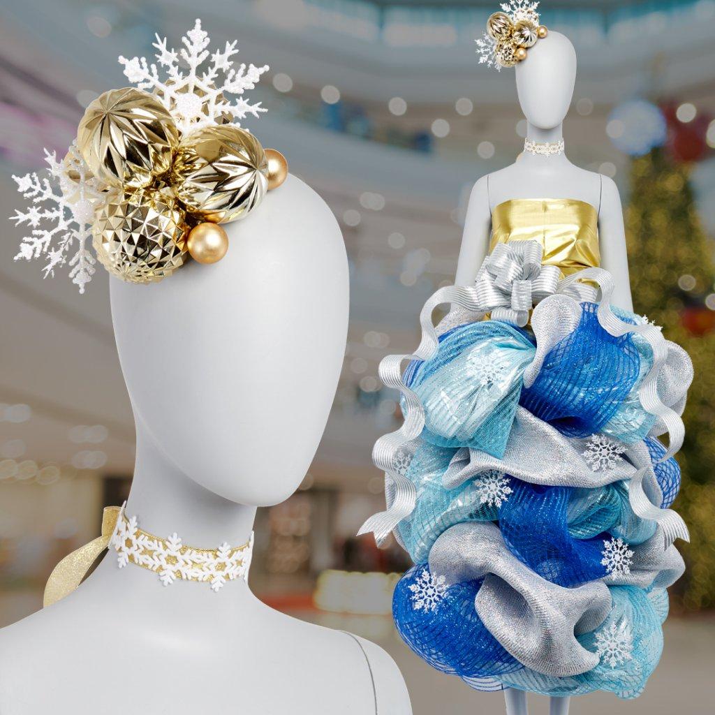 winter display mannequin