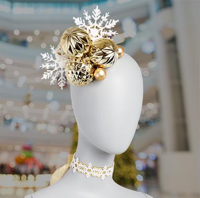 snowflake choker necklace DIY