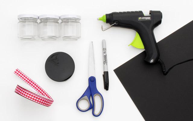 DIY hot cocoa kit materials