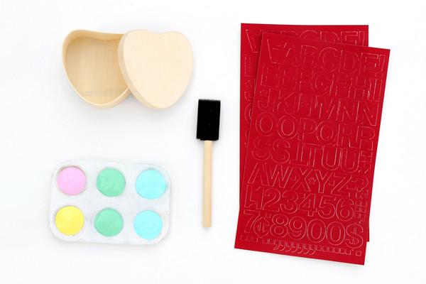 DIY Valentine Gift Box Supplies