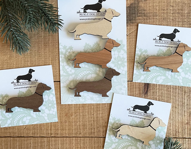 Pickle Dog Design Doxie Magnets