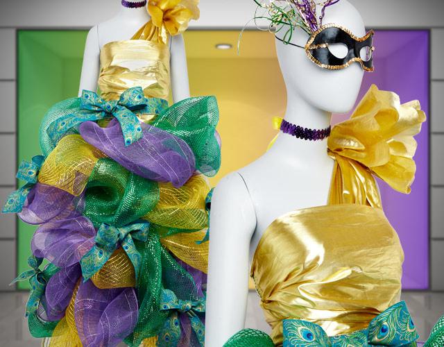 glamorous mardi gras display