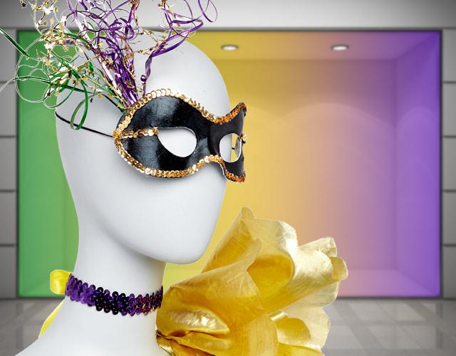 DIY Mardi Gras masquerade mask and choker accessories