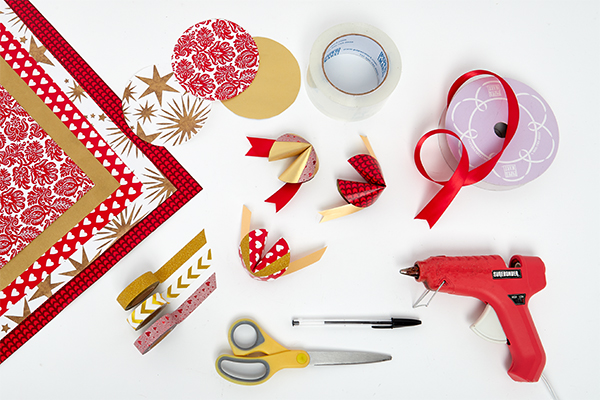 craft supplies for paper fortune cookie diy