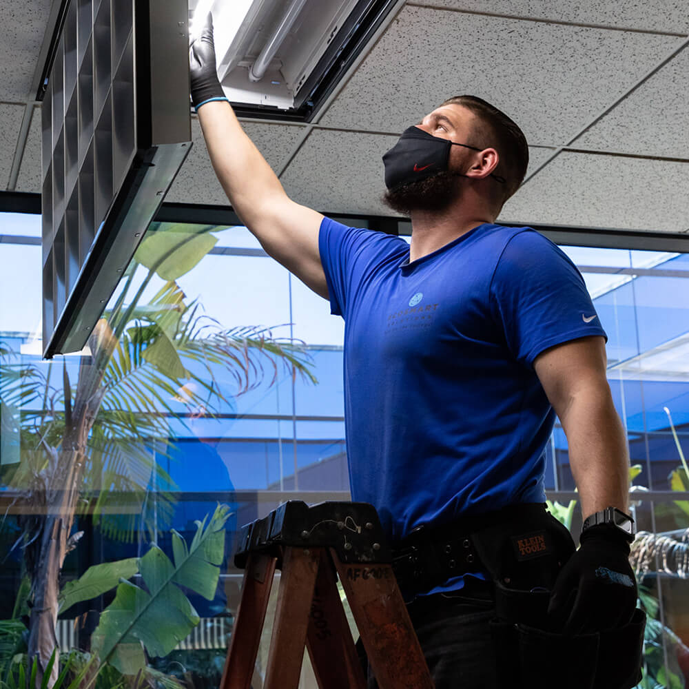 Paper Mart and Revel Energy LED Light Transistion