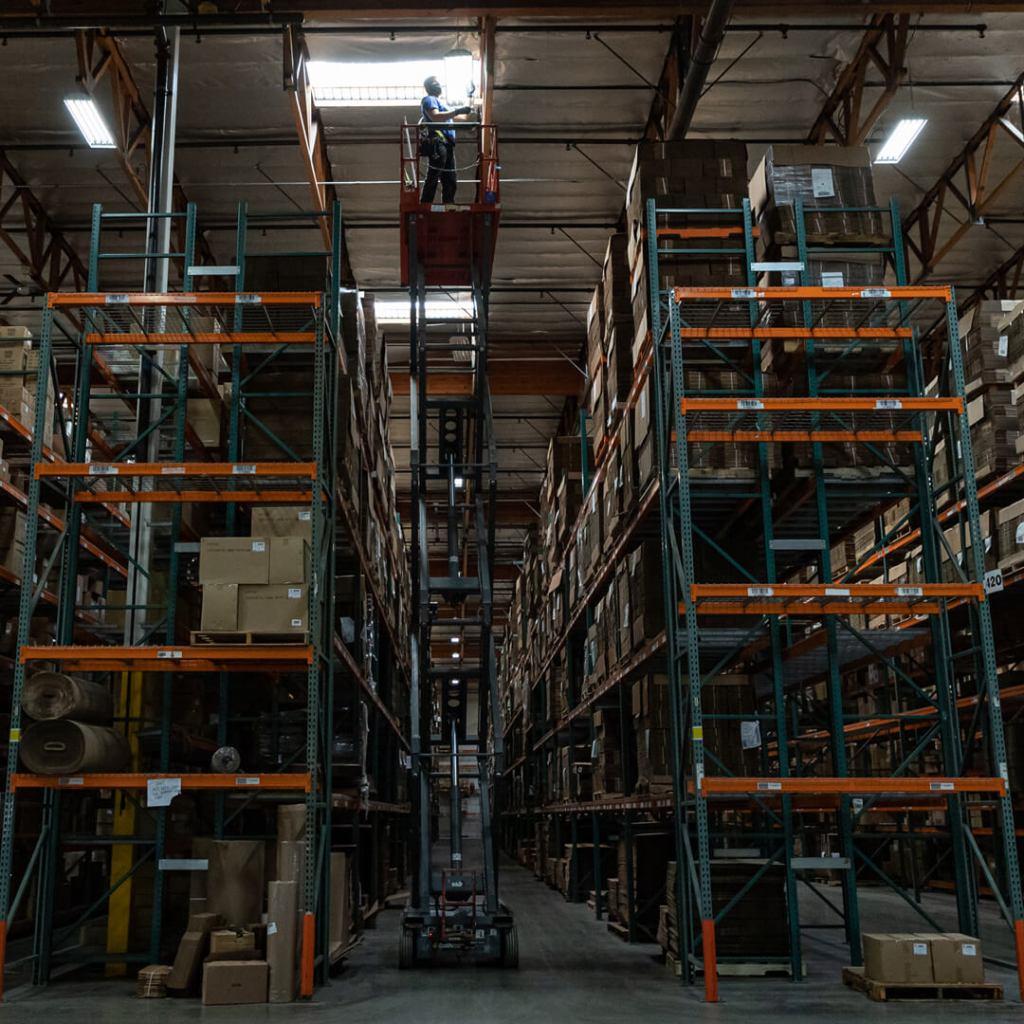 Paper Mart Warehouse LED Light Transition