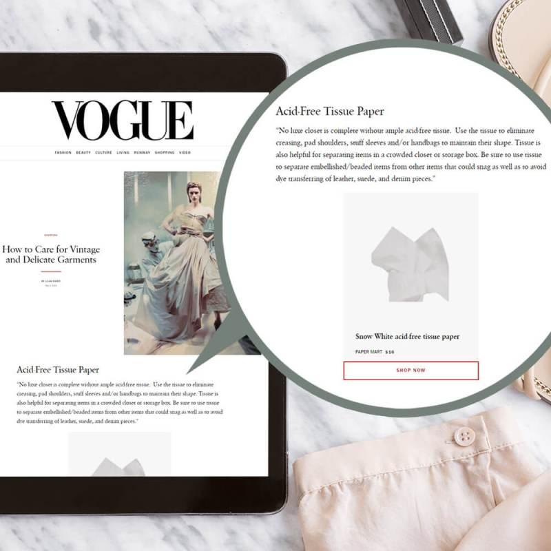 paper mart feature vogue US