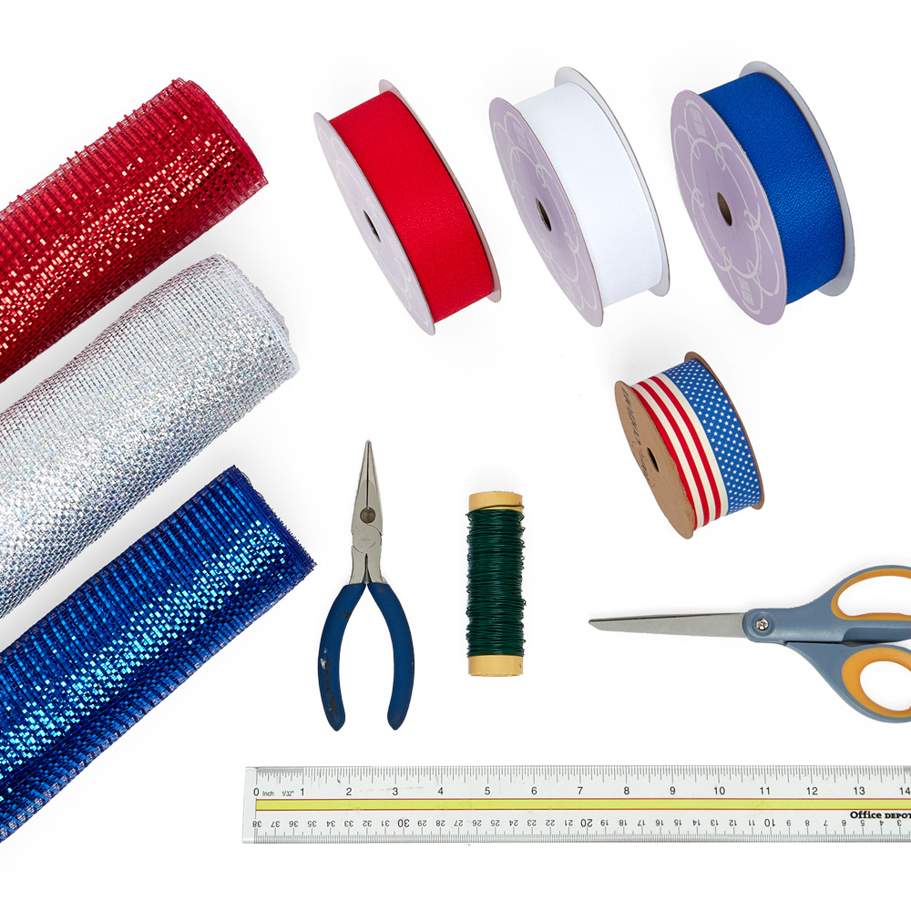flat lay of Paper Mart craft supplies