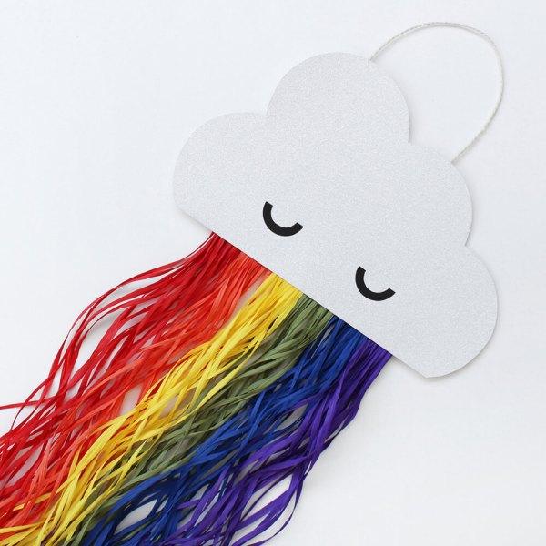 DIY wall art: sparkly rainbow cloud